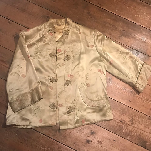 Vintage Washed Gold Chinese Jacket