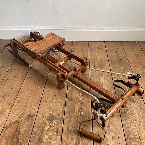 antique rowing machine