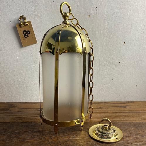 Antique Brass Framed Lantern