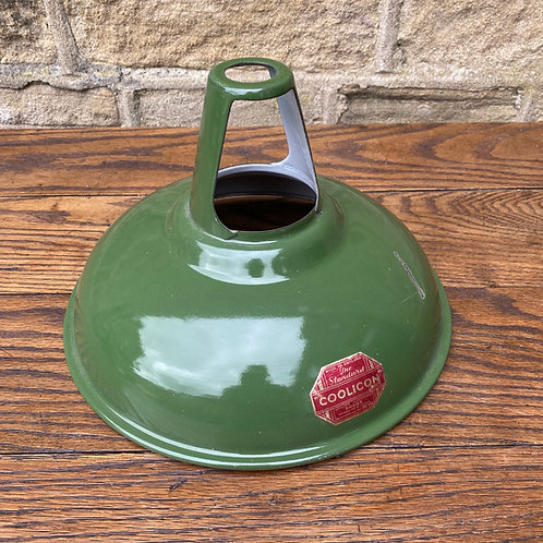 Vintage Green Enamel Coolicon Factory Shade