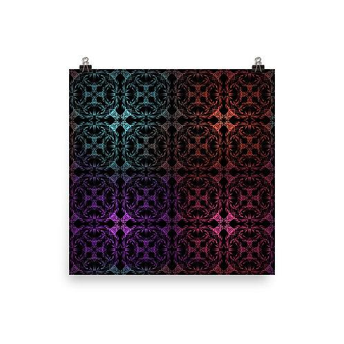 13. Multicolor Crossings | Matte finish Print