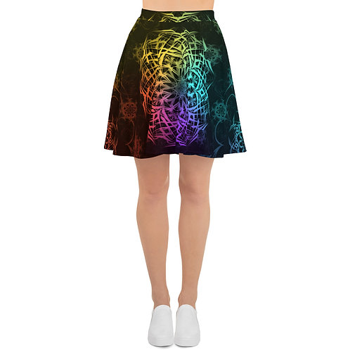 119 Stained Glass Colorwild I Skater Skirt
