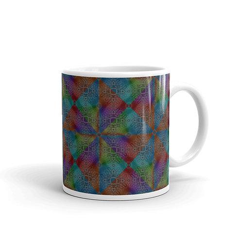 2H21 Spectrum Diamond Pattern Mug