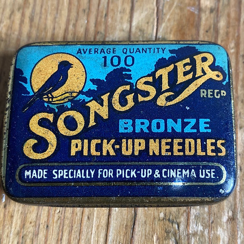 Antique Songster Gramophone Needle Tin