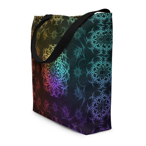 119 Stained Glass Colorwild Beach Bag