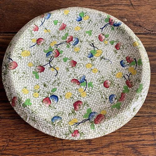 Chintz Flower Bread Plate