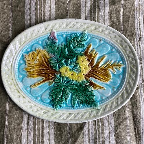 Antique Majolica Bread Plate