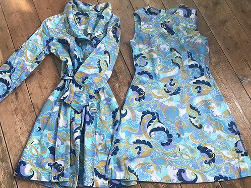Vintage 1960's Dress & Matching Coat