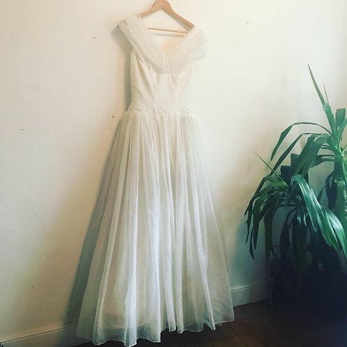 Vintage 1950's Frank Usher Ballgown Wedding Dress