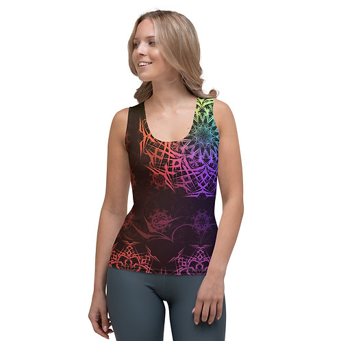 119V1 Stained Glass Colorwild I Sublimation Cut & Sew Tank Top