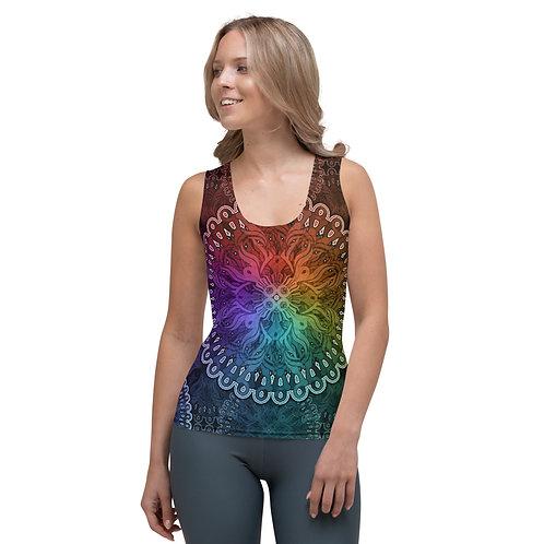 10A21 Spectrum Black Sublimation Cut & Sew Tank Top