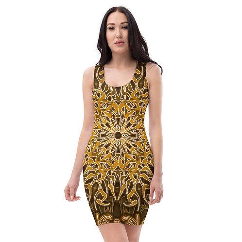 9W21 Spectrum Gold Sublimation Cut & Sew Dress