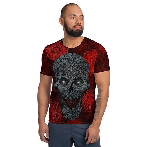 The Elaborate Death Red All-Over Print Men's Athletic T-shirt