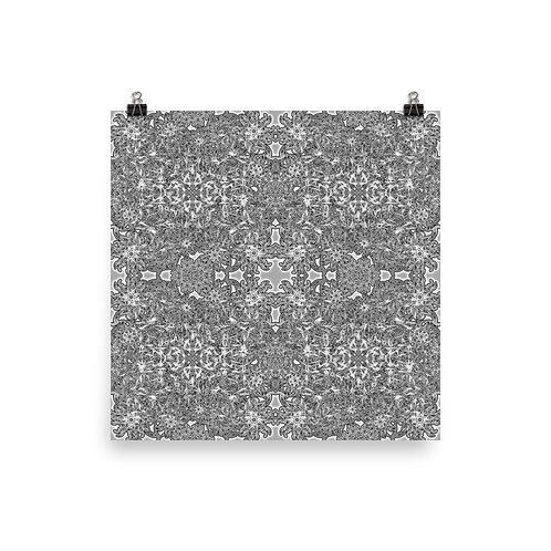 260A Oddflower Tile 2021   Matte finish Print