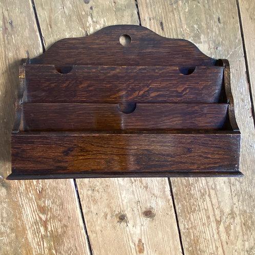 1920's Oak Letter Rack