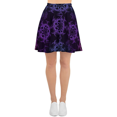 119 Stained Glass Colorwild I V5 Skater Skirt