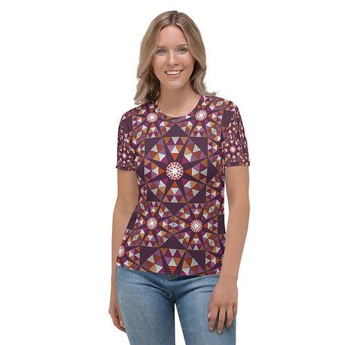 Lesbian Pride Tile Women's T-shirt