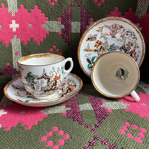 Victorian Porcelain Cup and Saucers