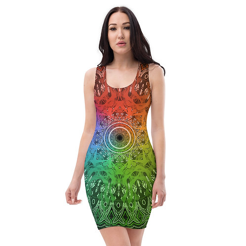 4A21 Spectrum Black Sublimation Cut & Sew Dress