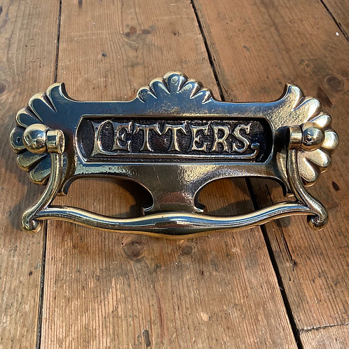 Victorian Brass Letter Box with Knocker