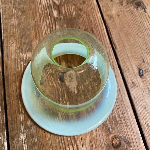 Small Handblown Vaseline Bell Shade