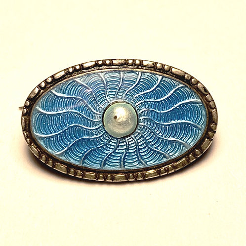 Silver and Enamal Pin Badge