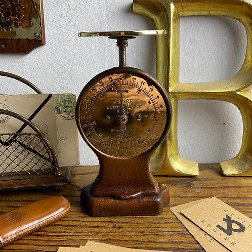 Cast Iron & Brass Salter Letter Balance