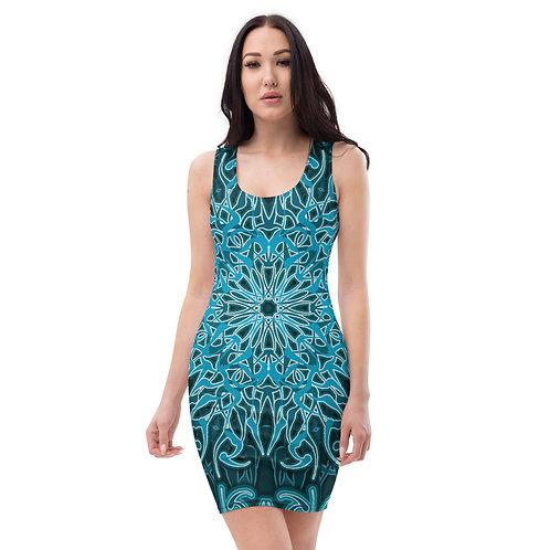 9Y21 Spectrum Blue Sublimation Cut & Sew Dress
