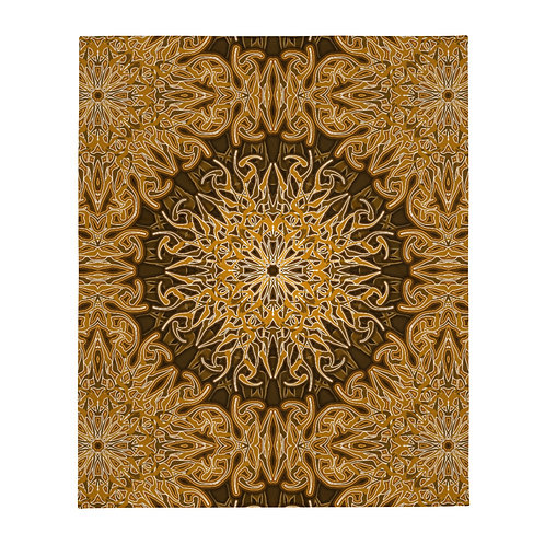 9W21 Spectrum Gold Throw Blanket