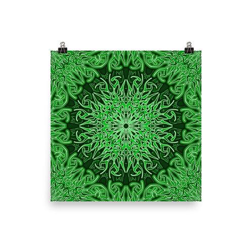 9X21 Spectrum Green | Matte finish Print