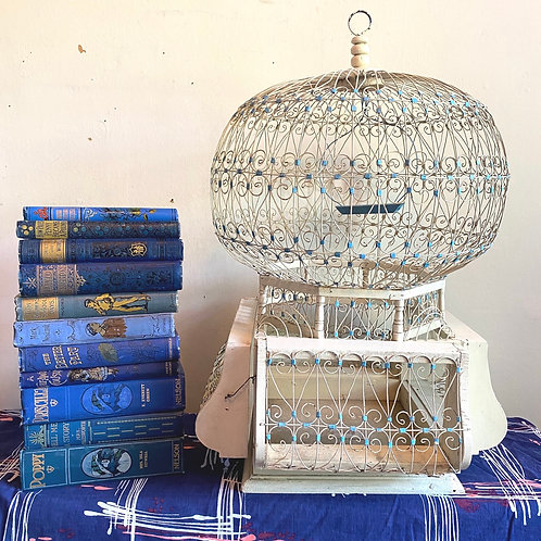 Vintage Wood and Wire Birdcage