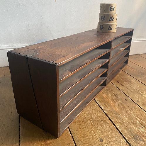 Antique Pine Filing Shelves