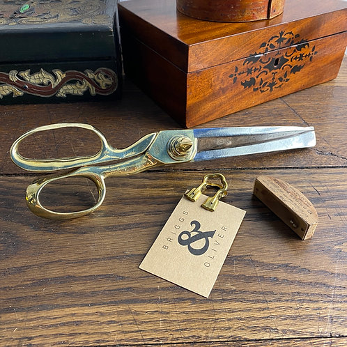 Antique Brass and Steel Tailors Shears / Scissors
