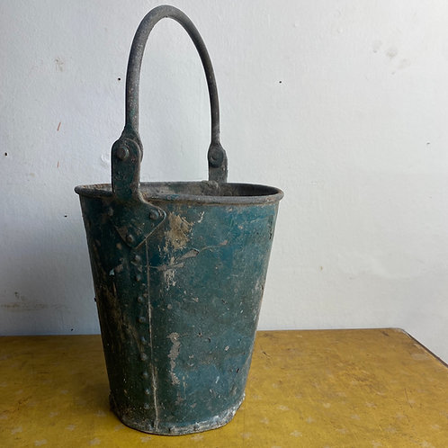 Vintage Riveted Galvanised Bucket