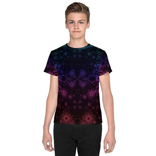 138V1. Elegant Bromeliad Snowflake Colorwild I Youth T-Shirt