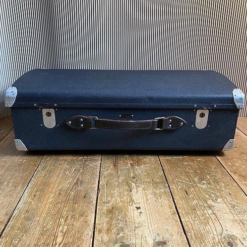 1950's Blue Aluminium Suitcase