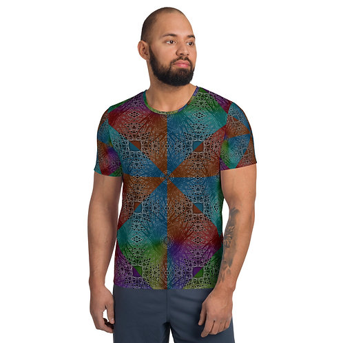 2H21 SDP All-Over Print Men's Athletic T-shirt