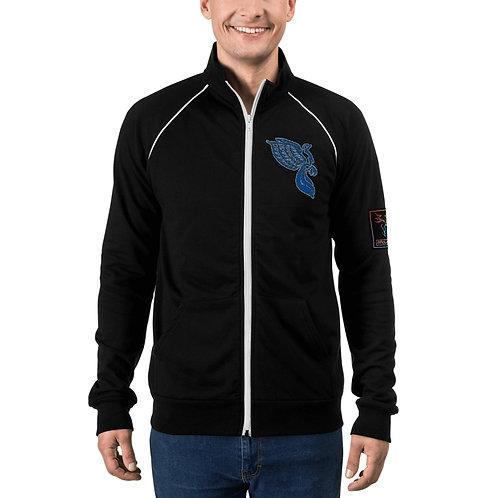 The Dove Aqua Portal Piped Fleece Jacket