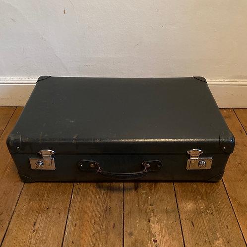 Vintage Grey Globe Trotter Suitcase