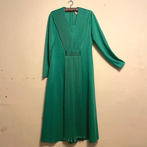 1960's Carnegie Emerald Green Dress