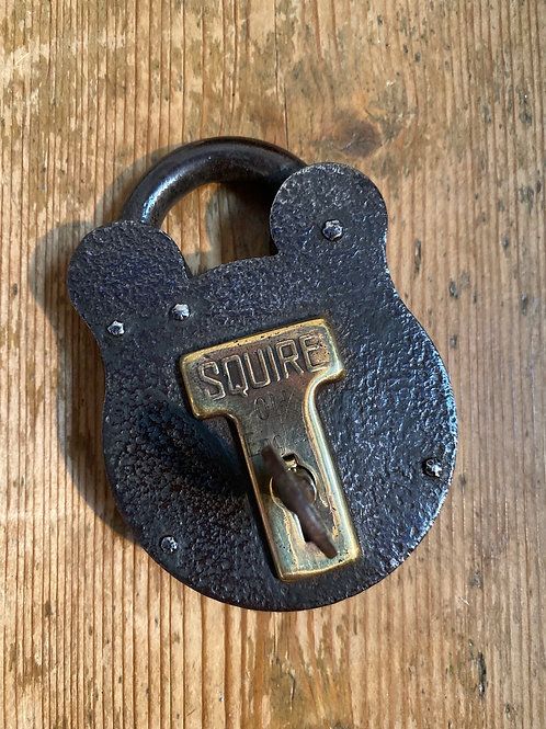 Squire Steel and Brass Padlock with Original Key