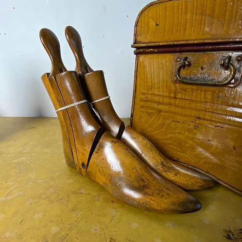 Pair of Articulated Wooden Boot Trees