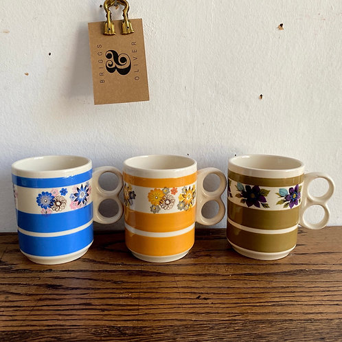 Set of 3 1970's Sadler Mugs