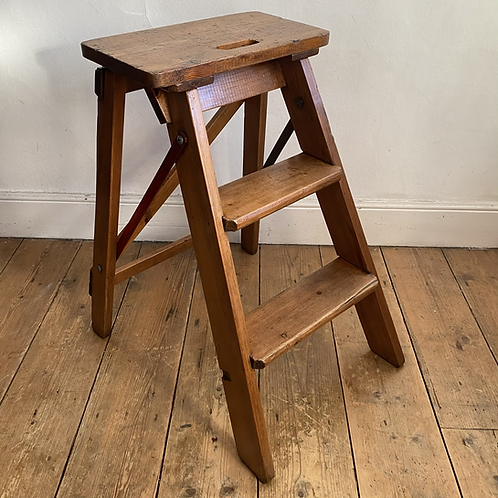 Folding Wooden Step Stool