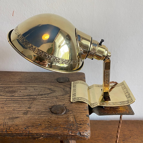 1920's Brass Clip Lamp