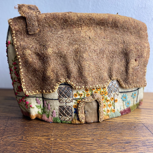 Antique Embroidered Felt Tea Cosy