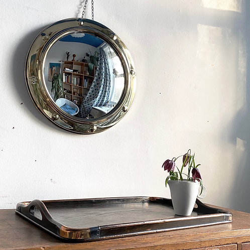 Wooden Tray with Copper Edges