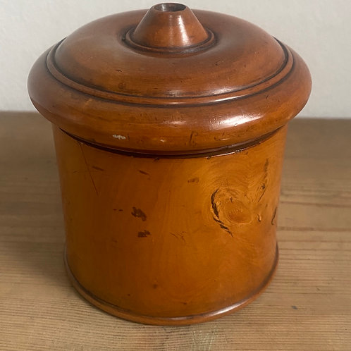 Antique Treen Boxwood Pot