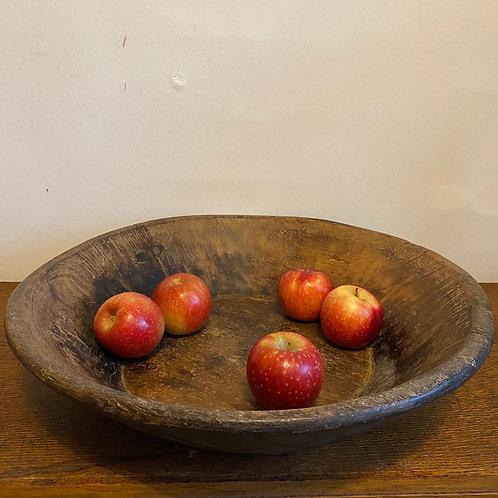 Large Antique Wooden Rajasthani Bowl