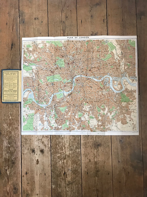 Vintage Philips' Map of Central London